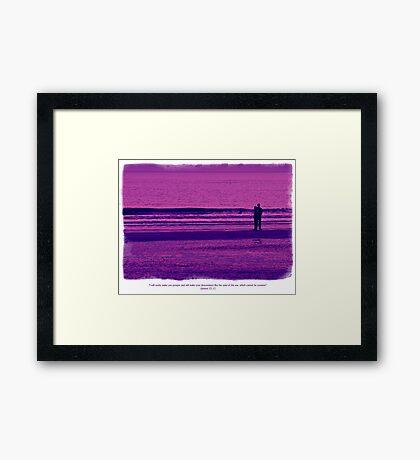 Genesis 32 v 12 Framed Print