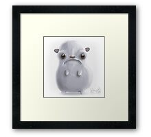 Cold hamster Framed Print