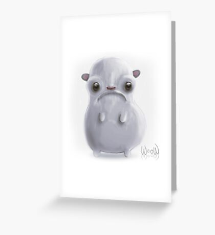 Cold hamster Greeting Card