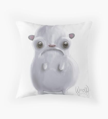 Cold hamster Throw Pillow