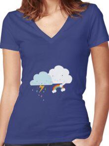Get well soon little cloud Women's Fitted V-Neck T-Shirt