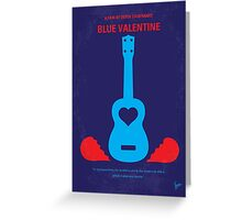 No379 My Blue Valentine minimal movie poster Greeting Card