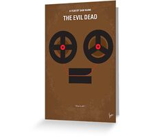 No380 My The Evil Dead minimal movie poster Greeting Card