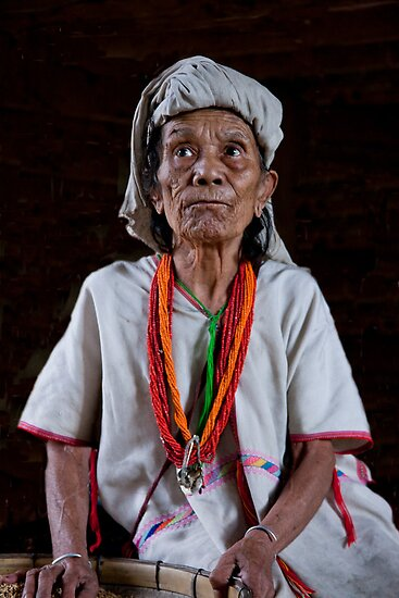 Elder Padong Woman by phil decocco