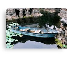 Enhanced boat Canvas Print