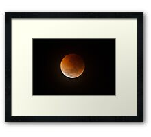 Lunar Eclipse Over Geelong, Melbourne Australia. Framed Print