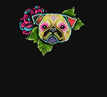 Day of the Dead Pug in Fawn Sugar Skull Dog T-Shirt
