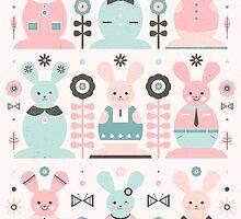 Pink Sugar Gingerbread Rabbits by CarlyWatts