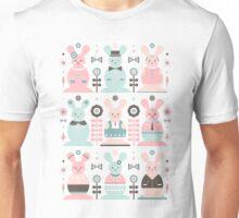 Pink Sugar Gingerbread Rabbits Unisex T-Shirt