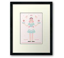 Pink Sugar Baking Girl Framed Print