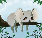 Grumpy koala bear by Tunnelfrog