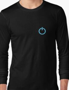 Power Up logo! - Blue Long Sleeve T-Shirt