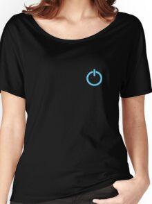 Power Up logo! - Blue Women's Relaxed Fit T-Shirt