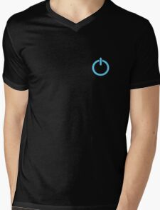 Power Up logo! - Blue Mens V-Neck T-Shirt