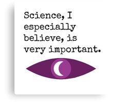 Night Vale Science Design Canvas Print