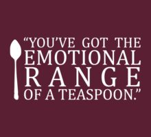 EMOTIONAL RANGE OF A TEASPOON by Kate Bloomfield