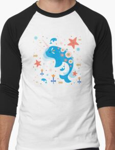 Narwhal & Babies Men's Baseball ¾ T-Shirt