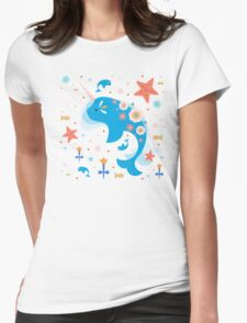 Narwhal & Babies Womens Fitted T-Shirt