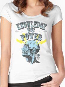 Knowledge is Power Women's Fitted Scoop T-Shirt
