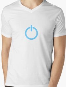 Power Up! - Blue Mens V-Neck T-Shirt