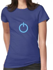 Power Up! - Blue Womens Fitted T-Shirt
