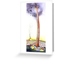 """The Unbearable Burden"" The Tower of Babel revisited  Greeting Card"