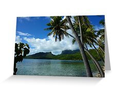 Bora Bora Dreamtime Greeting Card