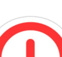 Power Off!  - Logo Sticker