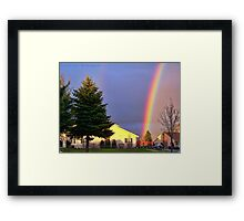 Now We Know Where the Rainbow Ends Framed Print