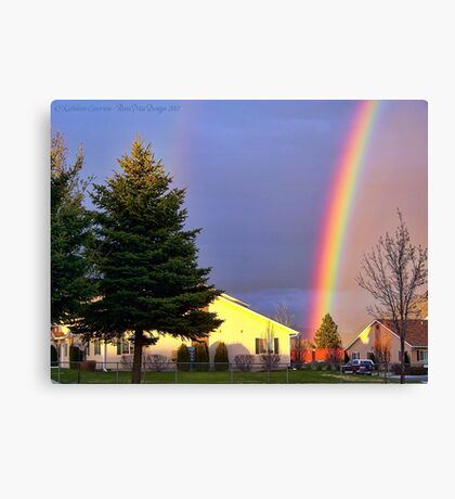 Now We Know Where the Rainbow Ends Canvas Print
