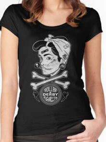 Zombie Roller Derby Girls Women's Fitted Scoop T-Shirt