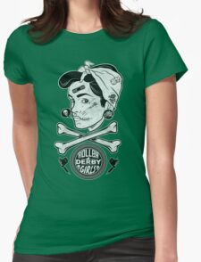 Zombie Roller Derby Girls Womens Fitted T-Shirt