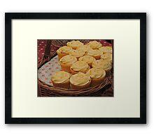Lemon Cupcake Basket Framed Print