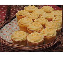 Lemon Cupcake Basket Photographic Print