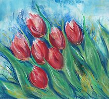 Whispering Tulips by Diane  Andrasic