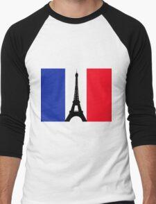 Eiffel Tower T-Shirt Men's Baseball ¾ T-Shirt