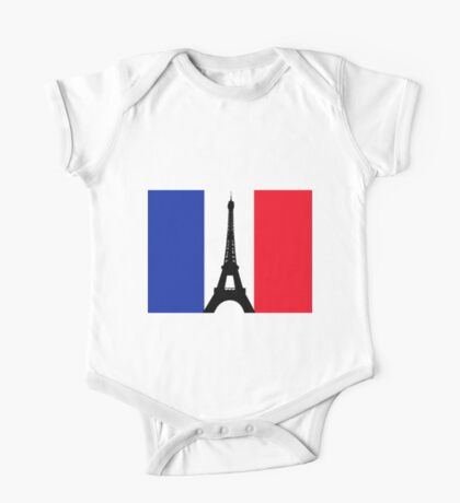 Eiffel Tower T-Shirt One Piece - Short Sleeve