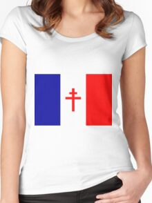Free French Forces T-Shirt Women's Fitted Scoop T-Shirt