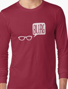White Blerg Long Sleeve T-Shirt
