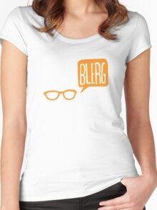 BLERG ORANGE! Women's Fitted Scoop T-Shirt