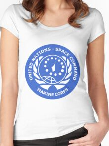 United Nation Space Command T-Shirt Women's Fitted Scoop T-Shirt