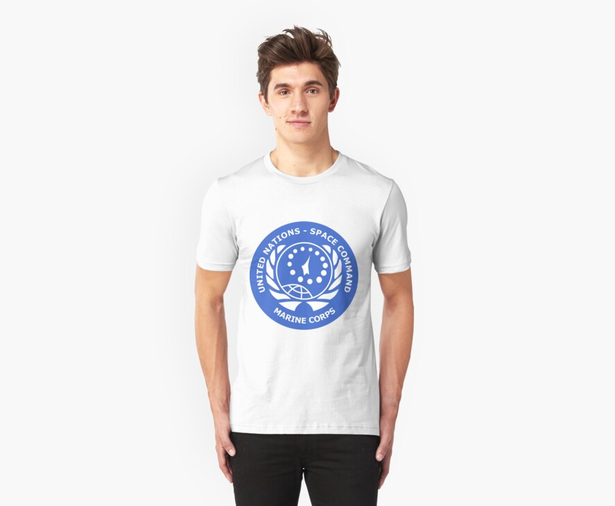 United Nation Space Command T-Shirt by Robotor