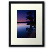 Indigo Twilight Framed Print