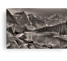 Moraine Lake (BW) Canvas Print