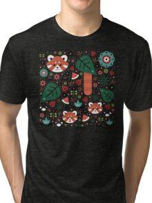 Red Panda & Cubs Tri-blend T-Shirt