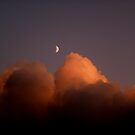 """Moon over glazed clouds by Alexa """"Lexi"""" Platts"""