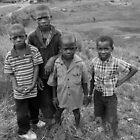 Haitian Children in Savanne Plate by Kent Nickell