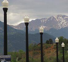 """Lamp Posts On Bridge Leading to Pike's Peak"" by dfrahm"