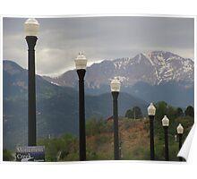 """Lamp Posts On Bridge Leading to Pike's Peak"" Poster"