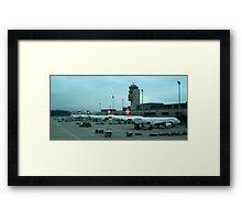 Zurich airport Framed Print